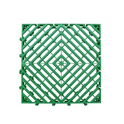 Rejilla de plástico para pavimentación de calzada, rejilla de empalme, camino de césped, protector de grava, alfombrilla de drenaje, decoración del suelo (40 x 40 cm) (40 x 40 x 3 cm), color verde