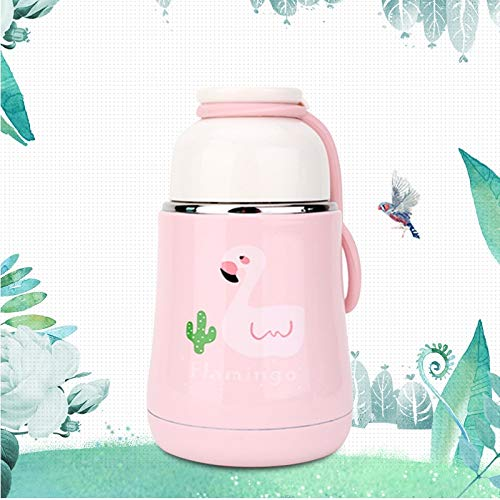 Tuzi Qiuge Wasser-Schalen-Flamingo-Becher Rosa 260 ml Mode Innovative Cartoon Studenten beweglicher handlicher Bauch Cup Durable (Color : Color1)