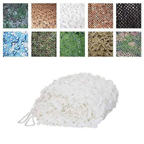 Luifel voor terras, Oxford-stof, camouflagennet, geschikt voor jacht, kostuum, voor grote tuin, 3 x 5 m, wit, camouflagenet 5 * 10M