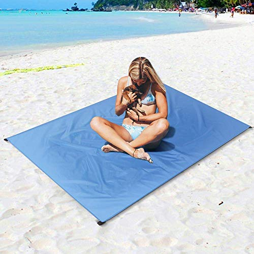 FHQCU Waterproof Pocket Beach Outdoor Camping Mat Blanket Lightweight Compact Outdoor Picnic Mat Ground Sheet Tarp Camping Mat,XXXL