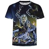 Camisetas Iron Maiden Hombres Mujer 3D Patrón Impreso Camisetas Verano Casual Manga Corta T-Shirt