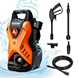Paxcess Portable Pressure Car Washer, Electric Power Washer Machine with Adjustable Spray Nozzle Foam Cannon for Driveways, Patios and Washing Vehicles