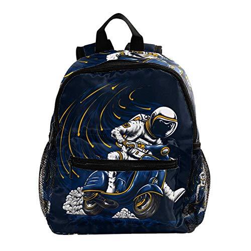 Babyrucksack Cooles Astronauten-Elektrofahrzeug Junge Kinder Rucksäcke Kindergarten Vorschule Kleinkind Jungen/Mädchen Schultasche niedlich Schultaschen 25.4x10x30 cm