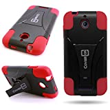 HTC Desire 510 Case, CoverON [Dual Defense Series] Protective Hybrid Armor Kickstand Phone Cover Case for HTC Desire 510 - Red & Black