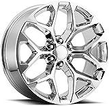Topline Replicas V1182 GM Snowflake Chrome Wheel (24 x 10. inches /6 x 5 inches, 27 mm Offset)