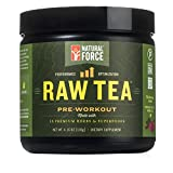 Natural Pre Workout Powder, Raw Tea Peach Flavor –...