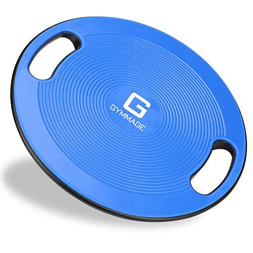バランスボード Gymmage 体幹 トレーニング用 滑り止め 40CM エクササイズ 耐荷重150kg 運動不足 リハビリ 持ち運び便利 ケガ予防 ダイエット ブルー