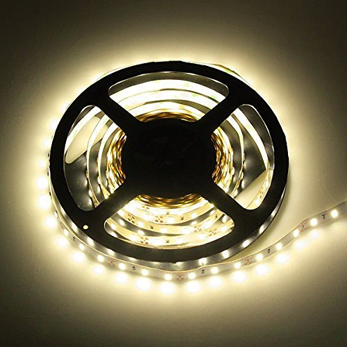 ROTOLO 5 METRI STRISCIA 300 LED 5630 EPISTAR WARM WHITE 3000 K PER INTERNO IP20 5 MT CON BIADESIVO