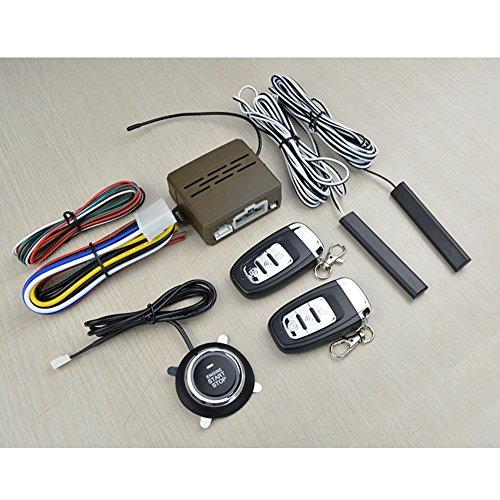 LanLan - Kit système de sécurité antivol pour voiture avec télécommande PKE, sans clés, 12 V (contient 8 pièces) - Avantageux, universel