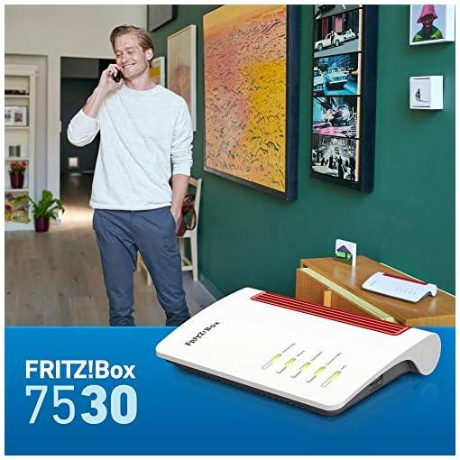 AVM Fritz!Box 7530 Doble Banda (2,4 GHz / 5 GHz) Gigabit Ethernet Negro, Rojo, Blanco Router inalámbrico Fritz!Box 7530… 2