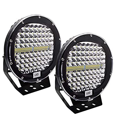 LED Pods Light Bar Safego 9inch Round 2Pcs 408W 40800Lm Waterproof Spot Beam Cree Led Work Light Off Road Lights Driving Light for Truck Jeep Wrangler Suv Atv Tractor Boat