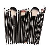 Demarkt Set Completo de Pinceles de Maquillaje para Principiantes Maquillaje Cepillo de Sombra de Ojos Pincel de Labios Madera Set de Brochas de Maquillaje Herramientas Kit 18PCS