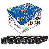 ジット ジット リサイクルインク JIT-AE80L6P 6色パック( ) 1パック(6色) (IC6CL80互換) IC80シリーズ