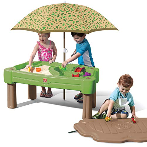 Step2 Cascading Cove Sand & Water Table with Umbrella Kids Sand & Water Play...