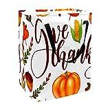nakw88 Cesta grande para la colada con asas y letras coloridas de Acción de Gracias