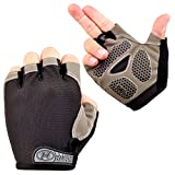 Bike Cycling Gloves - Bicycle Motorcycle Riding Anti-Slip Breathable Shockproof Outdoor Sports Half Finger Gloves (M, Upgrade)