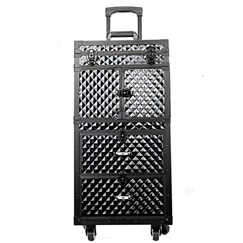 Professionelle Make-Up-Fall, Reisen Beauty Trolley, Large Cosmetic Trolley Für Friseure,...