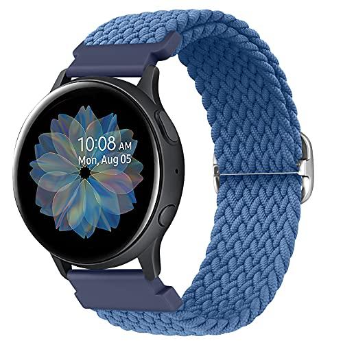AK Elastico Intrecciato Cinturino Compatibile per Samsung Galaxy Watch Active2/ Active, 20mm Cinturino Elastico in Nylon per Samsung Galaxy Watch Active/Galaxy Watch Active2/ Gear S2 Classic 2