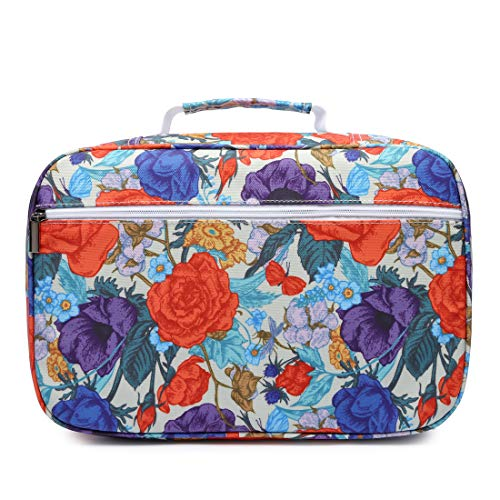 YOUNGCOL High Capacity Pencil case Hold 300 Pencils or 200 Gel Pen Colored Pencils Organizer Storage for Watercolor (Colorful Flowers)