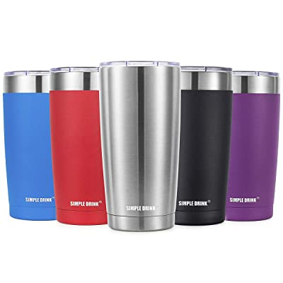 SIMPLE DRINK 20oz Vacuum Insulated Tumbler with...