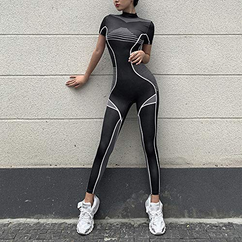 GUOJIAYI Fitness clothes ladies sportswear fitness clothes fitness yoga suit sports jumpsuit overalls sportswear