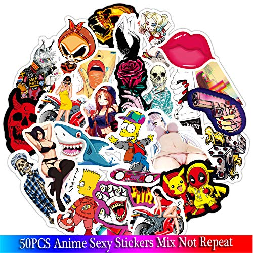Anime Cool Girl Stickers Sets Voor Motorfiets Snowboard Bagage Auto Koelkast Auto- Styling Laptop Adult Stickers50 stks