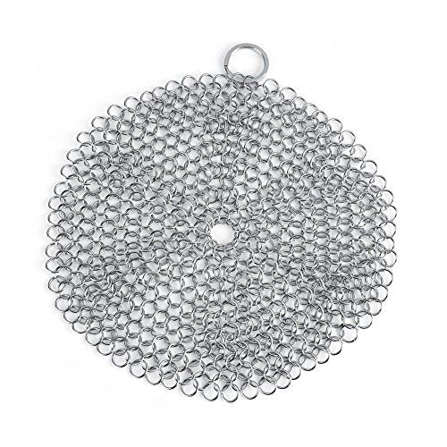 Chainmail Scrubber, RVS Scrubber Roest Proof Scraper Cleaner voor Gietijzeren Pan Pot Cookware