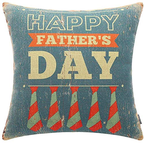 QDAS kussenhoes Happy Father's Day Decoration linnen Throw Pillow Case Sofa