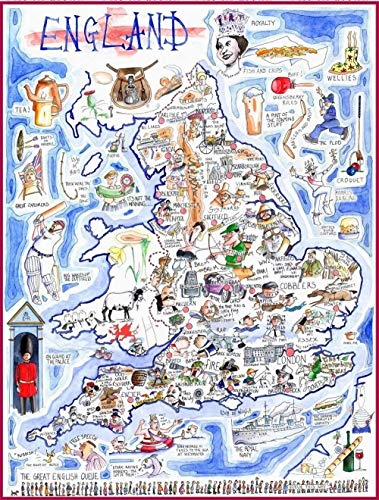 Engels Comic Map-Tim Bulmer (Tim Bulmer) 1000 puzzels