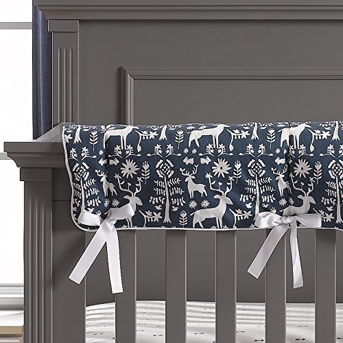 Liz and Roo Woodland Forest (Navy) Crib Rail Cover