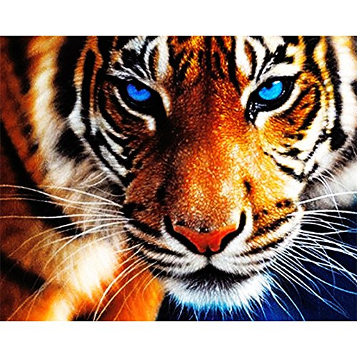 "Full Diamond 5D DIY Diamond Painting ""tiger"" Embroidery Cross Stitch Rhinestone Mosaic Painting Decor Gift"