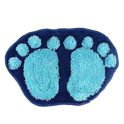 Airblasters Big Feet Rug Doormat The Bathroom Floor Mat Bedroom Rugs Blue