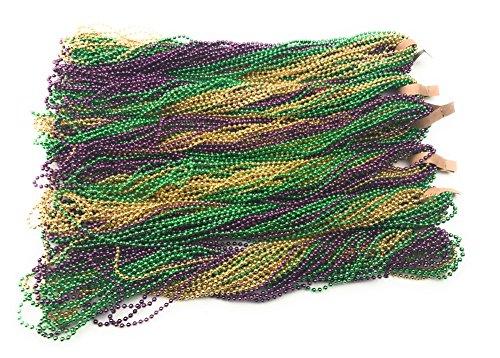 Oojami Mardi Gras Beads (144 Pieces)