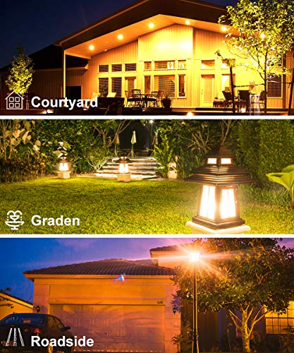 Govee Smart Light Bulb Dusk to Dawn, 10W (60W Equivalent) 800lm Warm White Light Sensor LED Light Bulb, 2700K BR30 E27 Automatic Turn On/Off, Indoor/Outdoor for Garage Hallway Garden Courtyard 2 Pack