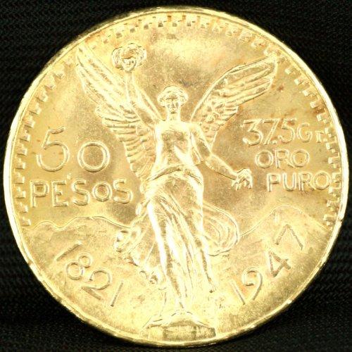 50 Mexican Pesos Coin - 37.5 grams Puro Oro 1.2 ounces of Gold