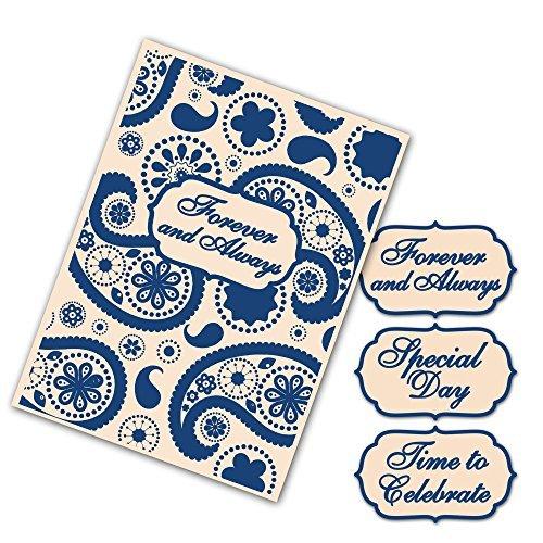 Tattered Lace Interchangeable Embossing Folders -- Paisley Set Set EF063