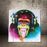 ChangHua1 Mural Nuevo Decorativo Colorido Abstracto Pintura Al Óleo Orangután...