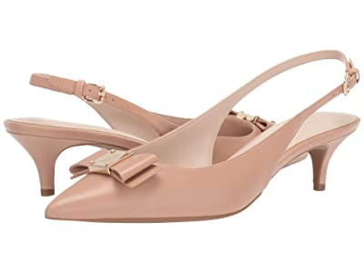 Cole Haan 45 mm Tali Bow Sling (Nude Leather) Women