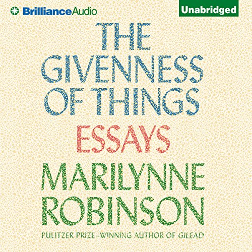 The Givenness of Things audiobook cover art
