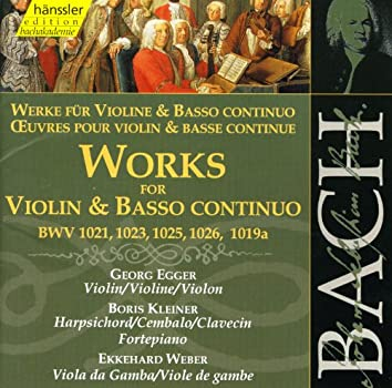 Bach, J.S.: Works for Violin and Basso Continuo