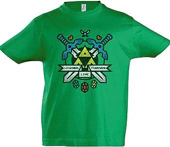 Urban Backwoods Legends Live Forever Niños Chicos Kids T-Shirt