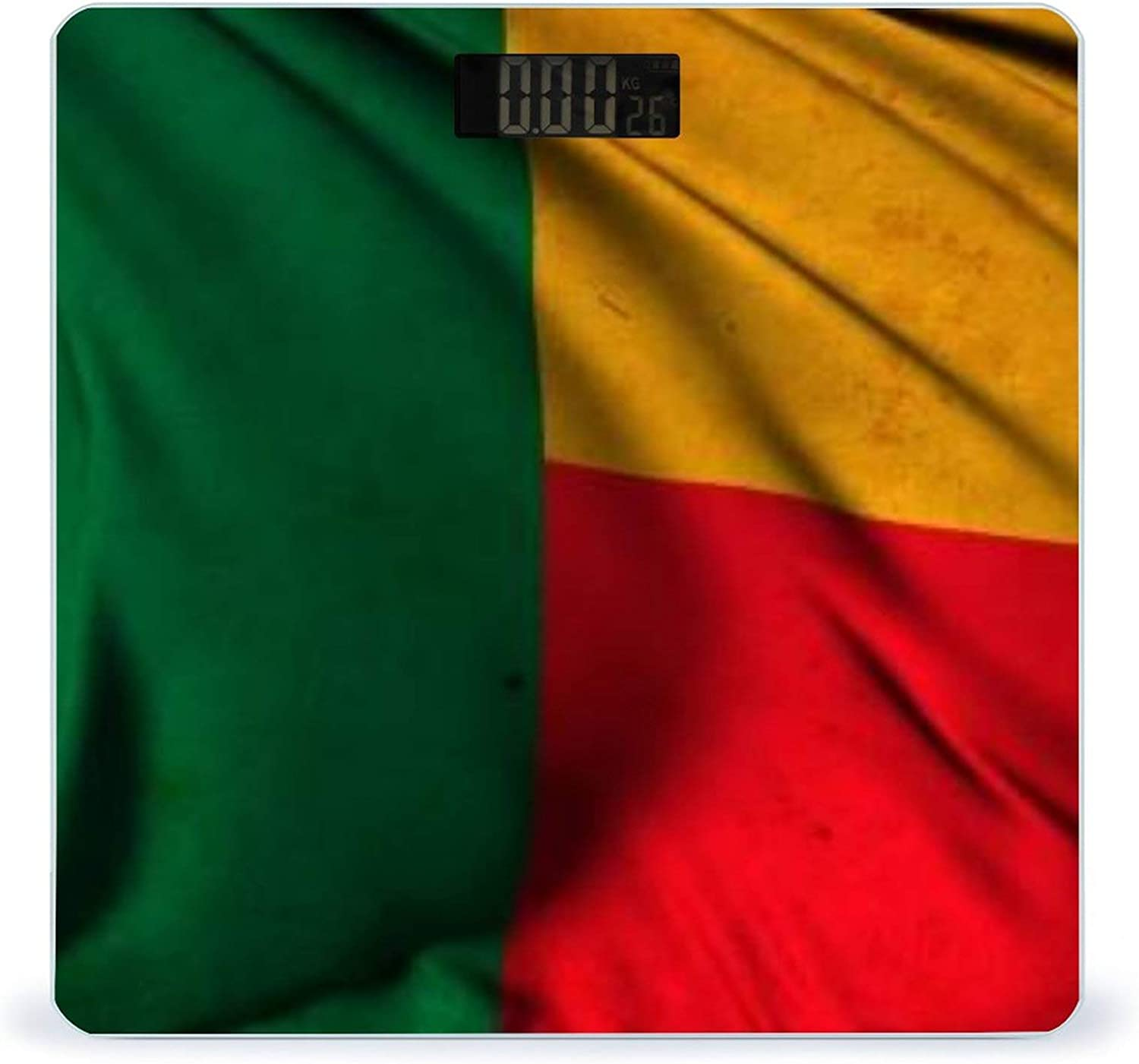 CHUFZSD Grunge Flag of Benin Reservation Smart Fitness Accurate Mail order Highly Scale