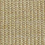 casa pura Sisal Teppich aus Naturfasern | mit Bordüre aus Baumwolle | pflegeleicht | viele Größen und Farben (Natur/Bordüre Natur, 70x130 cm) - 3