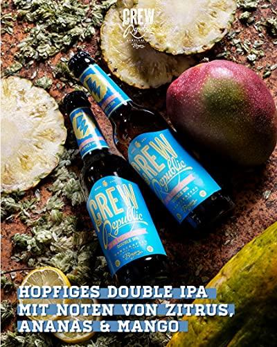 CREW Republic® Craft Bier 7:45 Escalation, Double India Pale Ale | World Beer Awards Gewinner Imperial IPA 2020 | Bierspezialität aus Bayern nach deutschem Reinheitsgebot (20 x 0,33l) - 2
