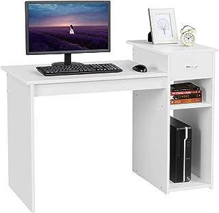 Yaheetech Bureau Informatique avec Tiroir 112 x 50 x 82 cm Table d'étude Modern pour Ordinateur Poste de Travail Informati...