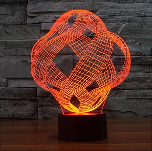 ZHIYUAN Visual illusion de trois dimensions cadeau de lumière/LED lumière/création abstraite 207 couleur 3D veilleuse