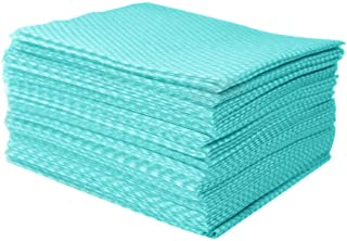 JEBBLAS Disposable Cleaning Towels Dish Towels and Dish Cloths Reusable Towels,Handy Cleaning Wipes, 50 Count/Pack,Green