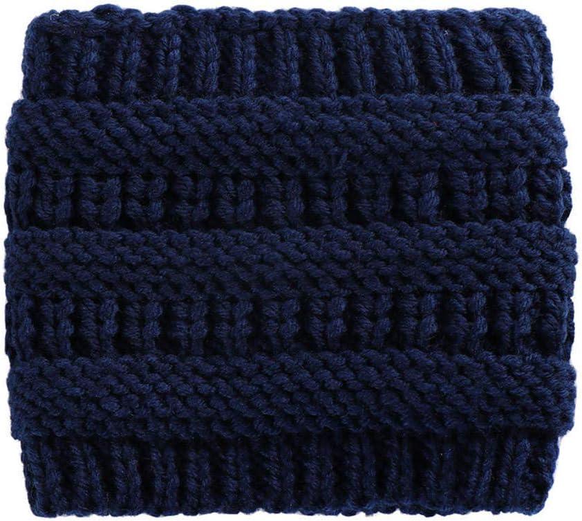 ZFCMIAO Women Knitted Headbands Winter Warm Head Wrap Wide Hair Accessories Hat Girl Head Wrap Wide Ear Warmer Hairband Girls-Khaki_One Size