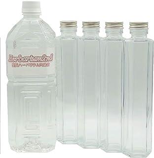 ハーバリウムオイル&ボトル (200ml 4本, 六角瓶)