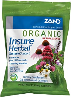 Zand HerbaLozenge Organic Insure Herbal (18 Lozenges)